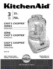 Kitchenaid Chef's Chopper KFC3100 Manuals