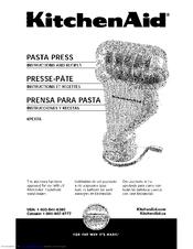 Kitchenaid KPEXTA Manuals
