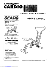 Sears Lifestyler CARDIO FIT PLUS Manuals
