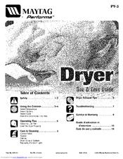 Maytag Performa PYET344AYW Manuals