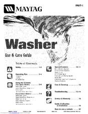 Maytag PAVT244AWW Manuals