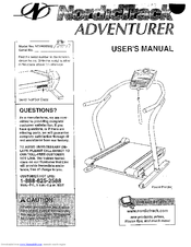 Nordictrack ADVENTURER Manuals