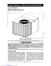 Nordyne Q3RA-042K Manuals