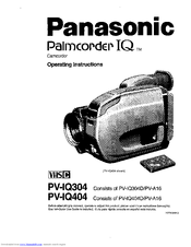 Panasonic Palmcorder IQ PV-IQ304 Manuals