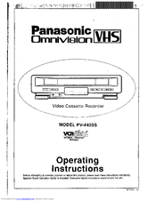 Panasonic Omnivision PV-4425S Manuals