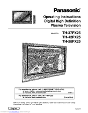 Panasonic TH-42PX25 Manuals