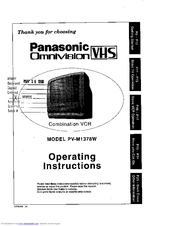 Panasonic Omnivision PV-M1378W Manuals