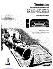 Technics SA-GX670 Manuals