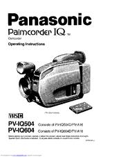 Panasonic Palmcorder IQ PV-IQ604 Manuals
