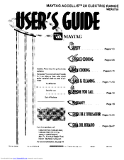 Maytag ACCELLIS 2X MER6750 Manuals