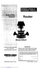 Porter-cable 690LR Manuals