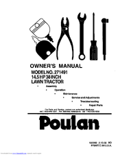 Poulan Pro 271491 Manuals