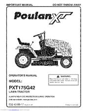 Poulan Pro XT PXT175G42 Manuals