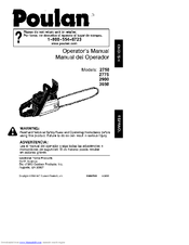 Poulan Pro 3050 Manuals