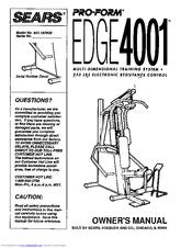 Proform EDGE 4001 Manuals