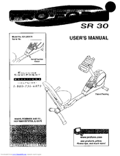 Proform SR 30 Manuals