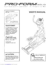 Proform 20.0 CrossTrainer Manuals