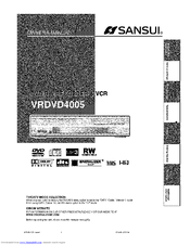 Sansui VRDVD4005 Manuals