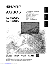 Sharp Aquos LC-32D59U Manuals