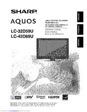 Sharp Aquos LC-42D69U Manuals