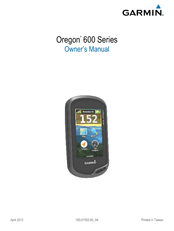 Garmin Oregon 600 Series Manuals
