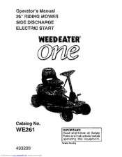 Weed Eater One WE261 Manuals