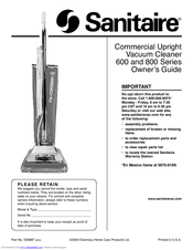 Sanitaire 600 Series Manuals