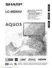 Sharp Aquos LC 65D64U Manuals