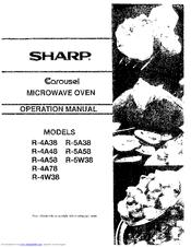 Sharp Carousel R-5A58 Manuals