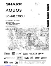 Sharp AQUOS LC-70LE735U Manuals