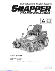 Snapper 500Z Series Manuals