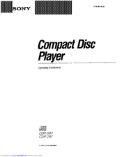 Sony CDP-397 Manuals