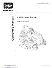 Toro LX500 Manuals