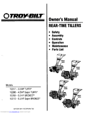 Troy-bilt 12209 Bronco Manuals
