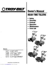 Troy-bilt 12209 Bronco Manuals
