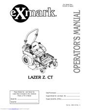 Exmark Lazer Z CT Manuals