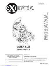 Exmark Lazer Z XS Manuals