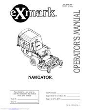 Exmark NAVIGATOR Manuals
