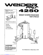 Weider PRO 4250 Manuals