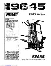 Weider PRO 9645 Manuals