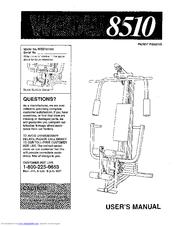Weider 8510 Manuals