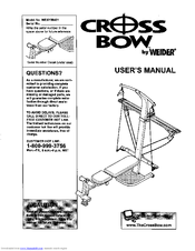 Weider CROSS BOW Manuals