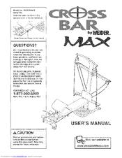 Weider CROSS BAR MAX Manuals