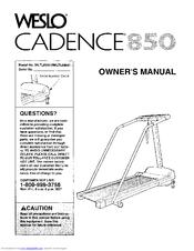 Weslo CADENCE 850 Manuals