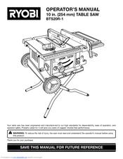 Ryobi Bts21 Manual