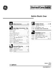 Ge Appliances JTP14 Manuals