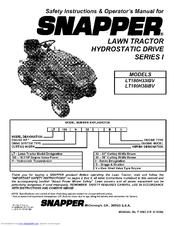 Snapper LT180H381BV series I Manuals