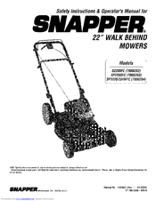 Snapper S2265FC Manuals