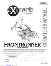 Exmark Frontrunner Manuals