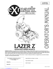 Exmark Lazer Z Advantage Series Manuals